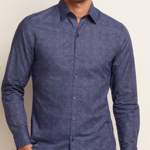 "Zachary Prell Blue Dot Shirt ""The Bailey"" S"